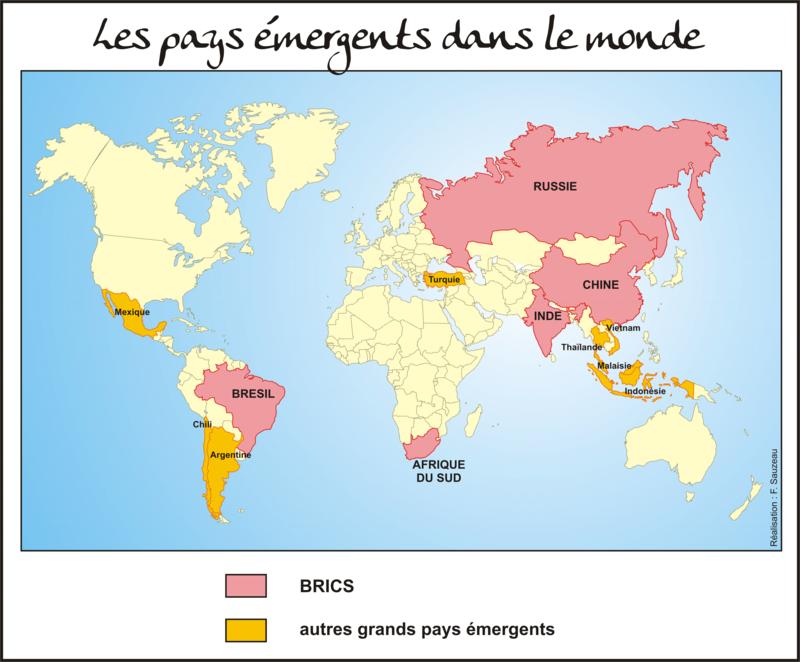 Les grands pays émergents.