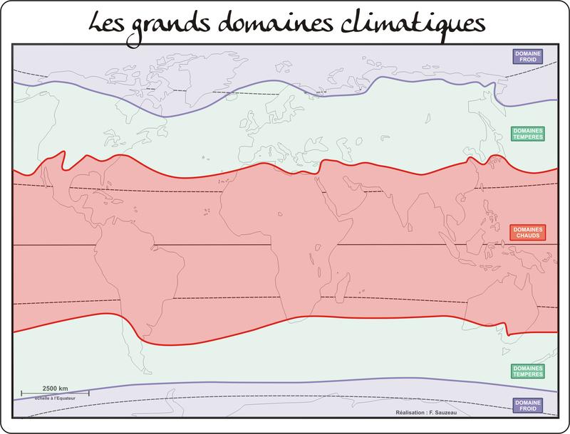 Les grands domaines climatiques