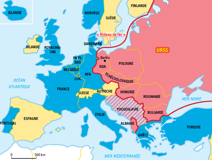 carte europe guerre froide