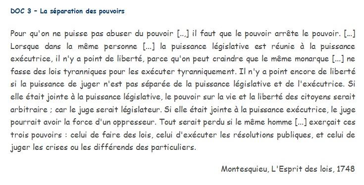 doc 3  u2013 la s u00e9paration des pouvoirs  u2013 la classe d u0026 39 histoire