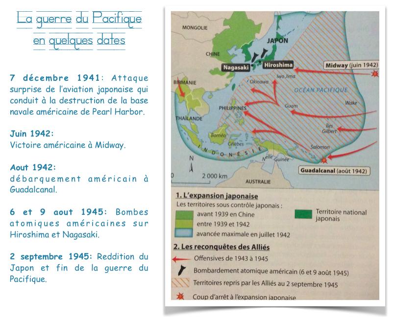 Guerre du Pacifique carte et chronologie