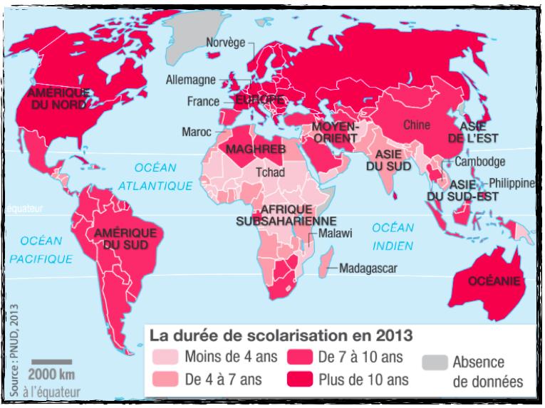 Parcours 1 Des Cartes Pour Comprendre Les Inegalites De Richesse Et De Developpement La Classe D Histoire