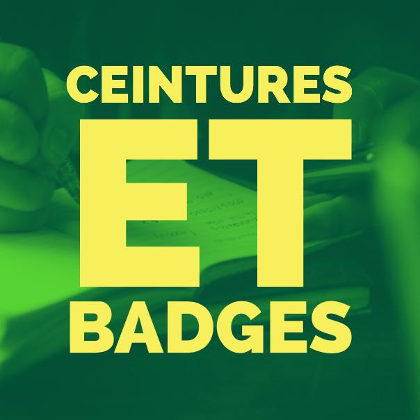 Ceintures et badges