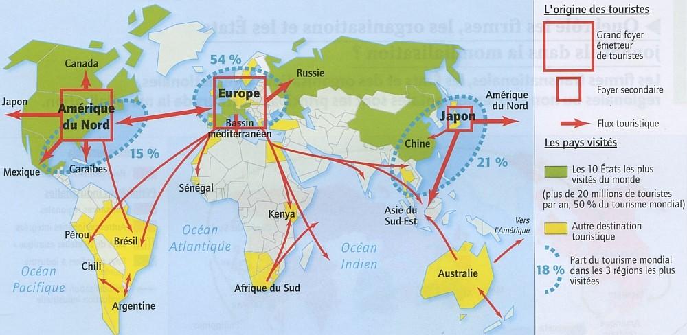 Le Tourisme Mondial La Classe D Histoire