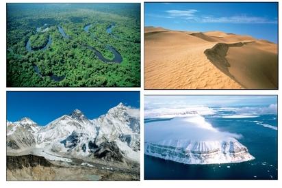 ACTIVITE 4: LOCALISER les espaces à fortes contraintes naturelles dans le monde sur un planisphère